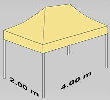 2000x4000 mm tent