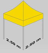 2500x2500mm  tent