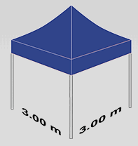 3000x3000mm tent