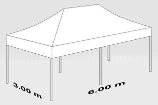 3000x6000 mm tent